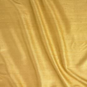 Vienne Silk - Egyptian Gold - Fabric made from silk and viscose in a warm golden yellow colour