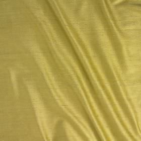 Vienne Silk - Lemongrass - A light shade of creamy gold covering fabric made with a mixed silk and viscose content