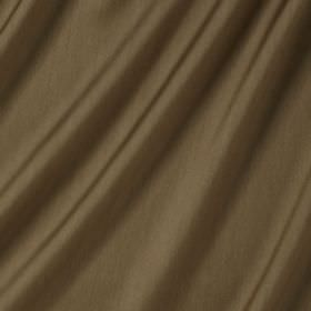 Connaught Silk - Acorn - Silk and wool blend fabric made in a colour that's a mix of dark brown and green
