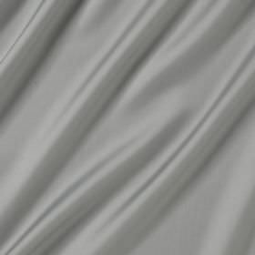 Connaught Silk - Antoinette - Silk and wool blend fabric made in a plain shade of grey that's so pale it almost appears white