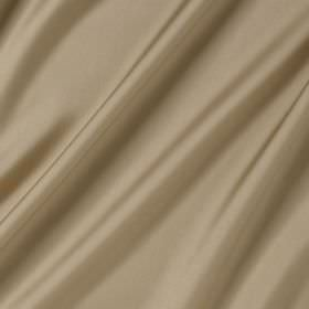 Connaught Silk - Rye - Folds of light creamy caramel coloured fabric made from silk and wool