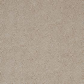Corolla - Popcorn - A pattern of tiny dots scattered over viscose, cotton and polyester blend fabric in pale grey and stone colours