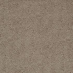 Corolla - Tabac - Fabric made from viscose, cotton and polyester with a tiny dot print pattern in very dark brown and pale grey colours