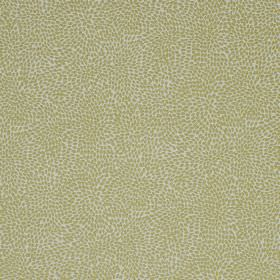 Corolla - Pampas - Small dots creating a random, light green coloured pattern on a light grey viscose, cotton and polyester fabric background