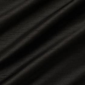 Astor - Black - Jet black coloured fabric made from 100% polyester, finished with a luxurious sheen