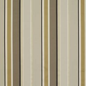 Evolution Stripe - Gold Natural - Gold, brown, grey, beige and white stripes of different sizes printed on fabric made from viscose and bern