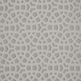 Crystal - Glacier - Fabric made from various materials in three different shades of grey, patterned with overlapping geometric shapes