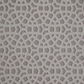 Crystal - Amethyst - Various different materials blended together into fabric made in three shades of grey with overlapping geometric shapes