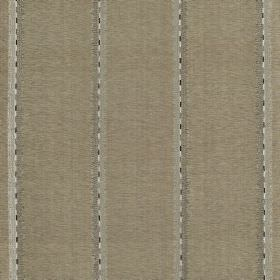Jammu Stripe - Manhattan - Viscose and silk blend fabric in grey, beige & white featuring a striped design of widely spaced pairs of vertica