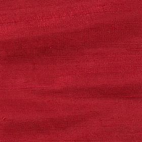 Handwoven Silk - Ruby Red - Rich claret coloured fabric made from 100% silk