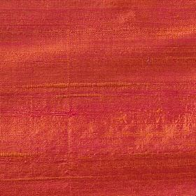 Handwoven Silk - Firefly - Unpatterned 100% silk fabric made using threads in very bright shades of orange and pink
