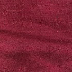 Handwoven Silk - Damson - Fabric made from plain, unpatterned burgundy coloured silk