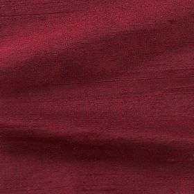 Handwoven Silk - Juniper - Dark ruby red coloured unpatterned fabric made entirely from silk