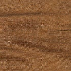Handwoven Silk - Amber - Warm oak coloured fabric woven entirely from silk threads