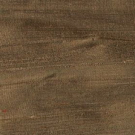 Handwoven Silk - Bronze - Unpatterned fabric made entirely from silk in a colour that's a blend of brown and khaki