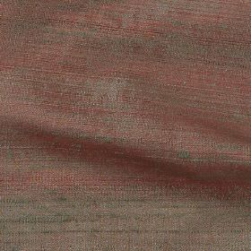 Handwoven Silk - Moss - 100% silk fabric woven from threads in grey and dusky red