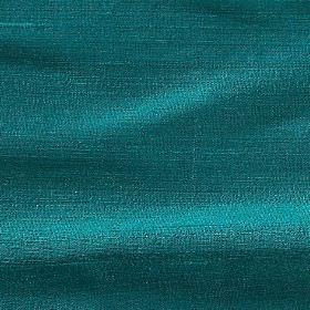 Handwoven Silk - Turtle Green - Turquoise coloured 100% silk fabric with a plain but very bright finish