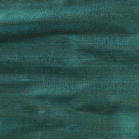 Handwoven Silk - Ceramic - 100% silk fabric woven using threads in turquoise and forest green shades