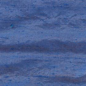Handwoven Silk - Persian Blue - Vivid Royal blue coloured 100% silk fabric with a few patches in a duller shade of purple