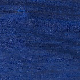 Handwoven Silk - Classic Blue - Fabric made from unpatterned silk in a rich midnight blue colour