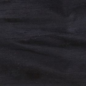 Handwoven Silk - Midnight - Plain black 100% silk fabric