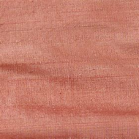 Handwoven Silk - Terracotta - 100% silk fabric made in a plain reddish orange colour