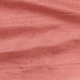Handwoven Silk - Ember - Coral coloured 100% silk fabric