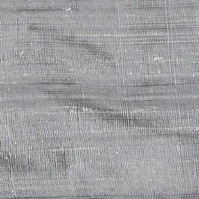 Handwoven Silk - Silver - Steel grey coloured 100% silk fabric featuring a few slightly thicker white threads