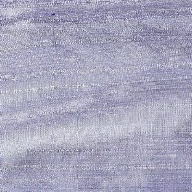 Handwoven Silk - Denim Blue - Plain lilac coloured fabric made entirely from silk with a few thicker threads