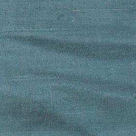 Handwoven Silk - Baltic - Dusky blue coloured 100% silk fabric with no pattern
