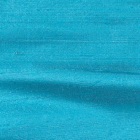 Handwoven Silk - Aqua - Bright sea blue coloured plain 100% silk fabric