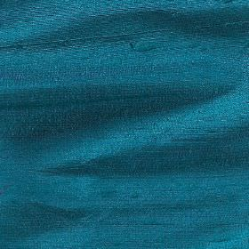 Handwoven Silk - Turquoise - Deep aquamarine coloured fabric made entirely from silk