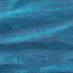 Handwoven Silk - Peacock - 100% silk fabric which has been woven using threads in bright sea blue and a deep purple colour