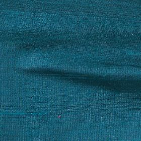 Handwoven Silk - Pacific - Fabric made entirely from dark teal coloured silk
