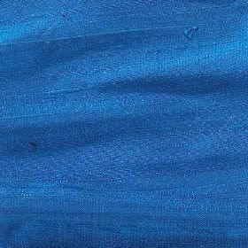 Handwoven Silk - Sapphire - Unpatterned 100% silk fabric made in bright Royal blue