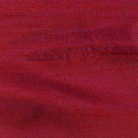 Handwoven Silk - Magenta - 100% silk fabric made in a plain, dark claret colour