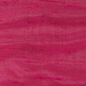 Handwoven Silk - Cerise - Raspberry coloured fabric made from very bright 100% silk