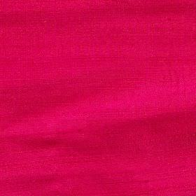 Handwoven Silk - Fuchsia - Very bright pink-red coloured fabric made entirely from unpatterned silk