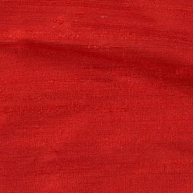Handwoven Silk - Scarlet - Plain fiery orange coloured 100% silk fabric