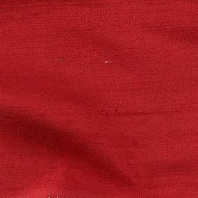 Handwoven Silk - Tartan Red - 100% silk fabric made in a plain, dark shade of tomato red