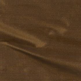 Imperial Silk - Amber - Walnut brown coloured 100% silk fabric