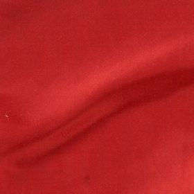Imperial Silk - Red - Coral coloured fabric made from unpatterned 100% silk