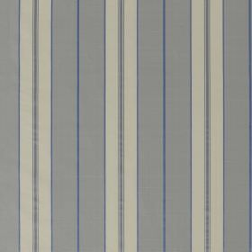 Parasol Stripe - Frost - Several different shades of light cobalt blue-grey making up a simple, repeated stripe pattern on 100% silk fabric
