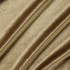Richmond Velvet - Caramel - Putty coloured fabric made with no pattern from a mixture of viscose, polyester, cotton, linen and silk