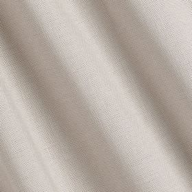 Linenfold - Chanterelle - Fabric made from linen and cotton in a plain, crisp white colour