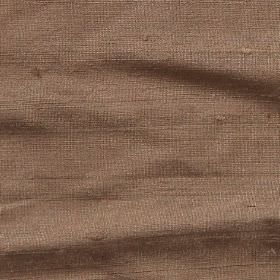 Orissa Silk - Walnut - Light brown coloured fabric made from 100% silk with a very slight pink tinge