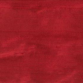 Orissa Silk - Ruby Red - Luxurious deep red coloured 100% silk fabric