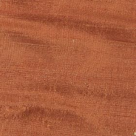 Orissa Silk - Paprika - Terracotta coloured fabric made from 100% silk with no pattern