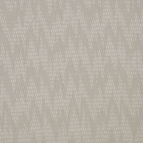 Osprey - Elder - A subtle, uneven zigzag pattern printed in two similar pale shades of grey on cotton, nylon and polyester blend fabric