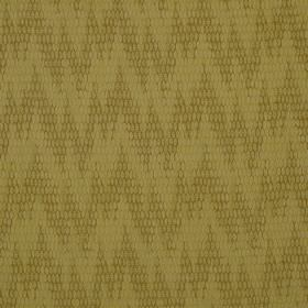 Osprey - Broom - Fabric made in two light creamy gold shades from a blend of cotton, nylon and polyester, with random, patterned zigzags
